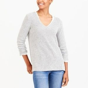 J. Crew Factory | Textured Cotton V-neck Sweater